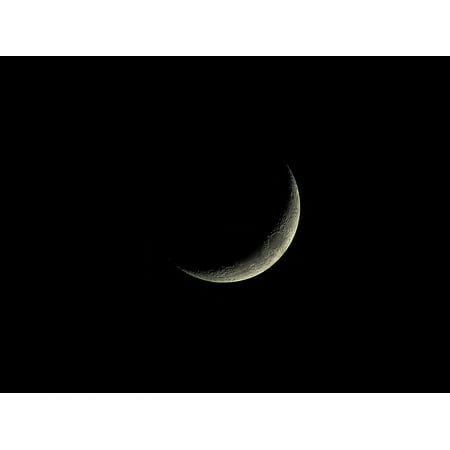 LAMINATED POSTER Luna Dark Hd Wallpaper Crescent Moon Crater Moon Poster Print 24 x