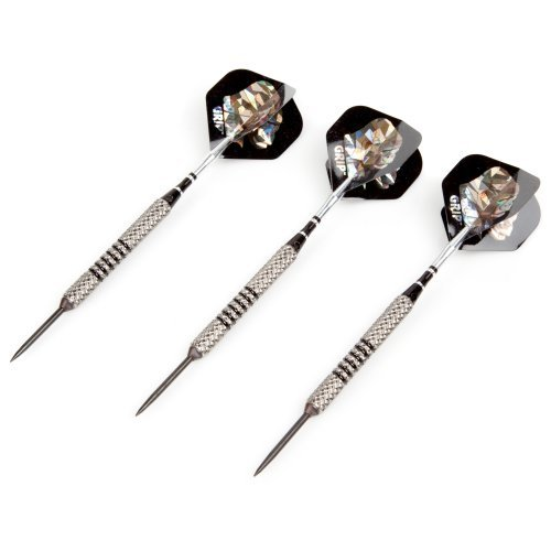 Gorilla Grip Silver Steel Tip Darts - 1/4 in. Barrel
