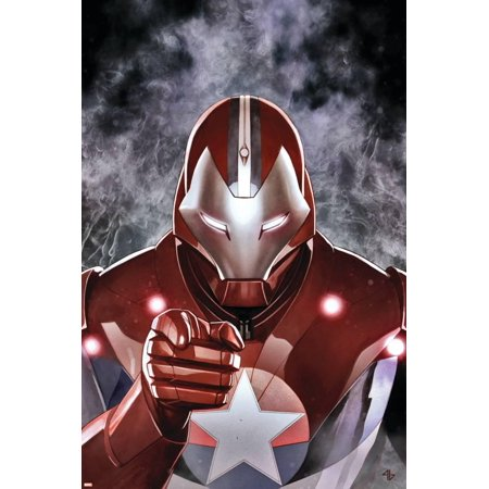 Ultimate Comics Ultimates #19 Cover: Iron Patriot Poster Wall Art By Adi Granov - Iron Patriot Suit For Sale