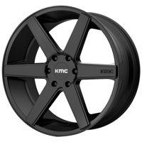 "KMC KM704 District Truck 22x9 6x5.5"" +30mm Satin Black Wheel Rim 22"" Inch"
