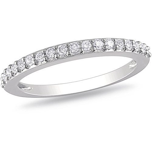 Miabella 1/4 Carat T.W. Diamond Stackable Ring in 10kt White Gold