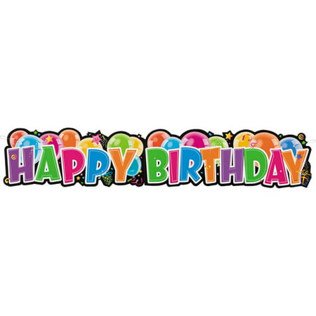 Happy Birthday Giant Jointed Banner - Customized Birthday Banners Online