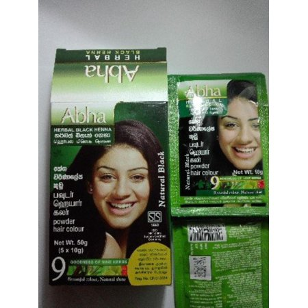 Abha Herbal Black Henna Younger Look For All Unisex 10g X 5 Hair