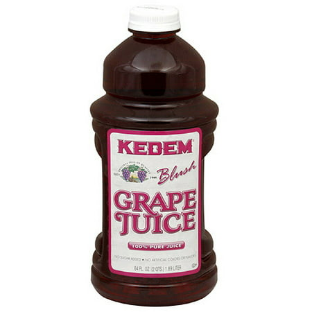 Kedem Pure Blush Juice, Grape, 64 Fl Oz, 8 Count