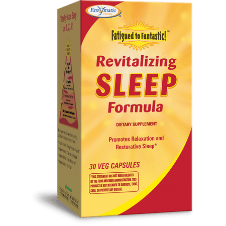 Enzymatic Therapy Fatigued to Fantastic! Revitalizing Sleep Formula Capsules, 30 Ct