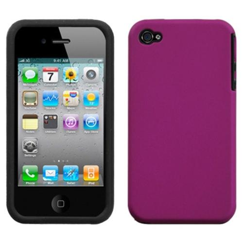 Insten Hot Pink Fusion Case (Rubberized) For iPhone 4/4S