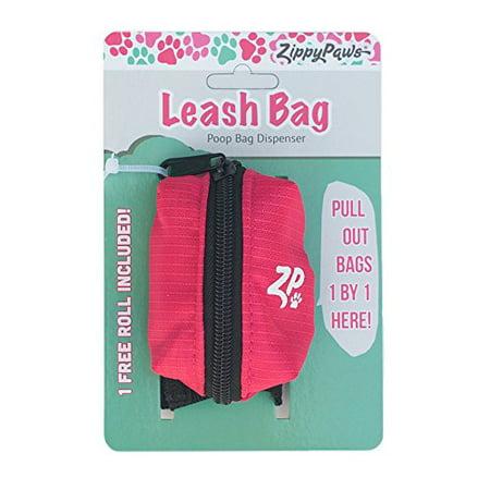 - ZippyPaws Leash Bag Dispenser - Hibiscus Pink