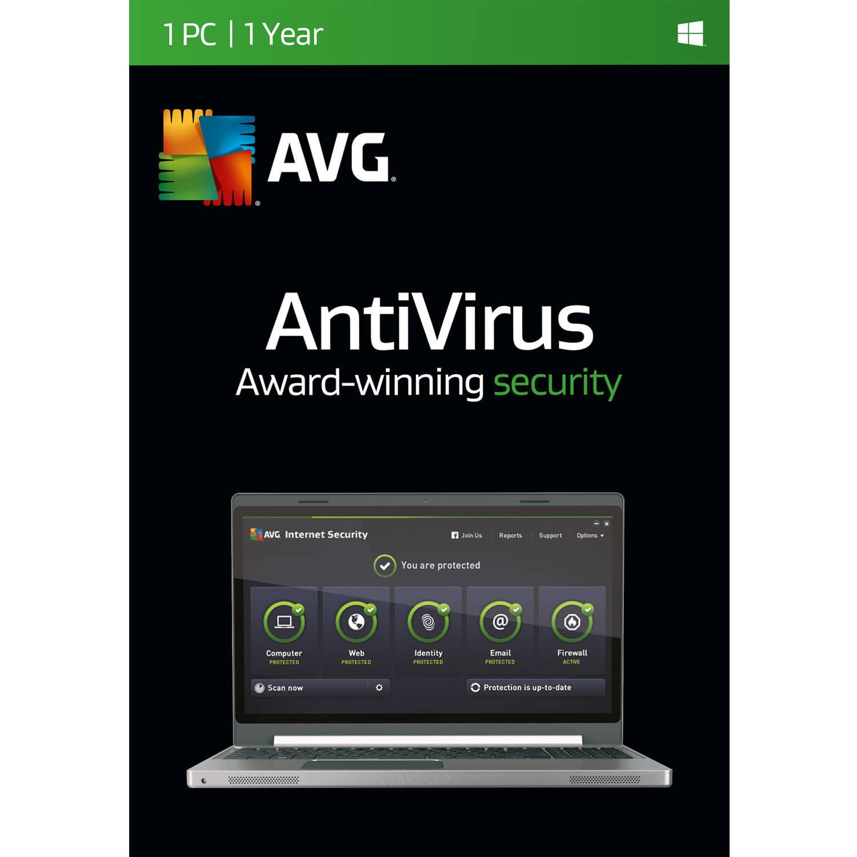 Software Software AntiVirus de AVG, 1 usuario/1 año + AVG en Veo y Compro