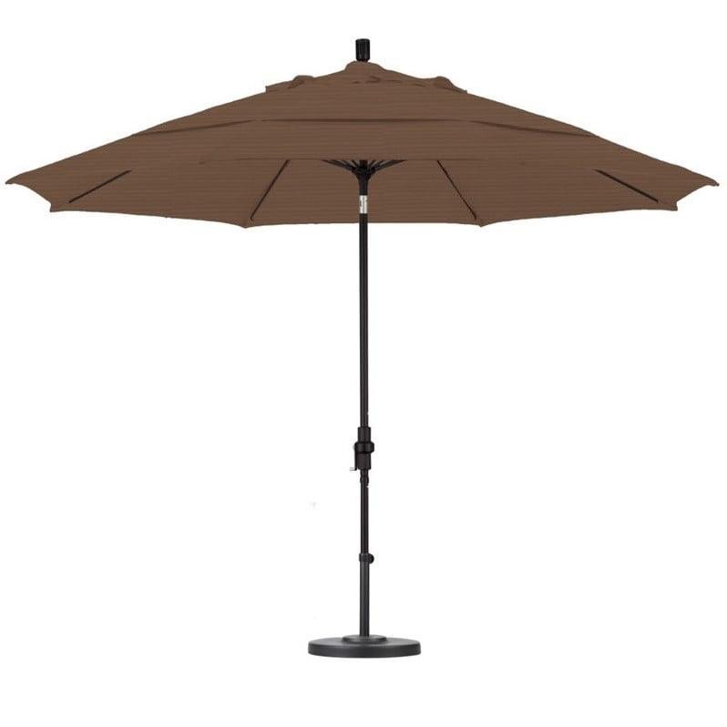 California Umbrella 11' Market Patio Umbrella in Terrace Sequoia