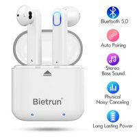 Bietrun Bluetooth 5.0 Headphones with Built-in Mic and Charging Case