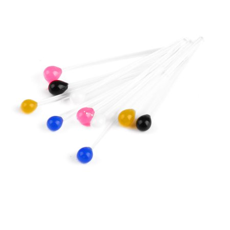 10 x 10 Packs Colorful Ball Head Plastic Ear Studs Earrings for Ladies - image 1 of 1