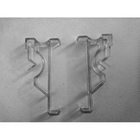 New 2.5 Inch Valance Clips for Window Blind Valance Clear Type (10