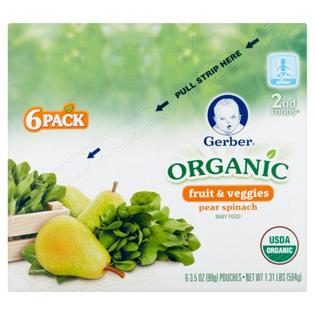Gerber 2nd Foods Organic Fruit Amp Veggies Baby Food Sitter