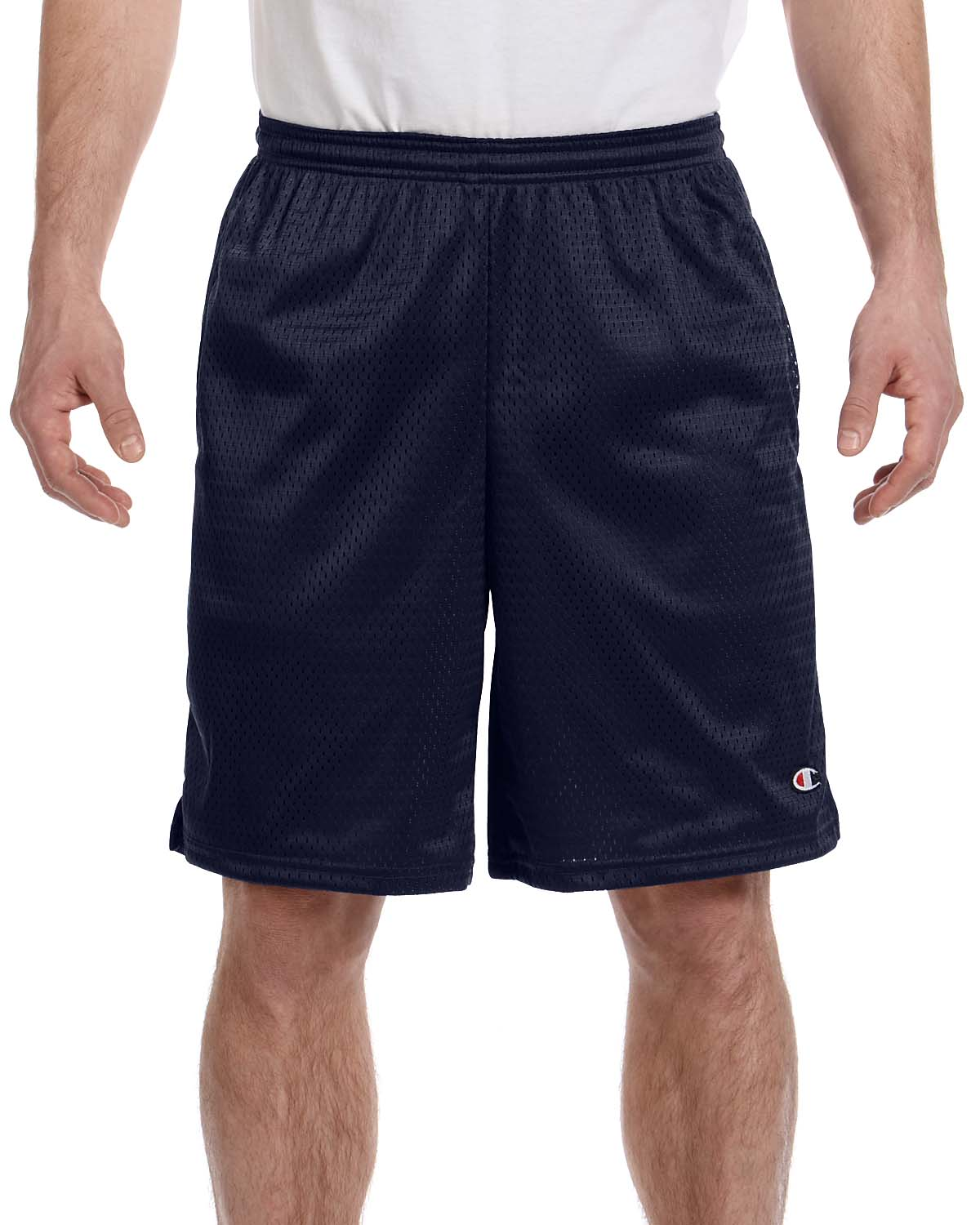 "Champion Mens Poly Mesh 9/"" Inseam Gym Shorts with Pocket S162 S-2XL Basketball"
