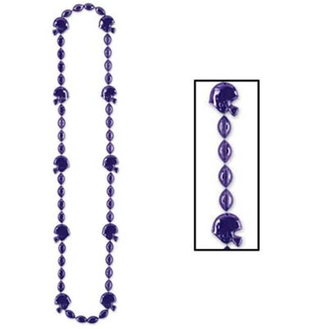 Beistle - Football Beads - 36 Inches Pack of 12