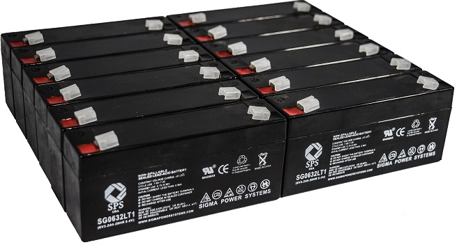SPS Brand 6 V 3.2 Ah Replacement Battery with Terminal T1 for Siemens 933 (12 PACK) by