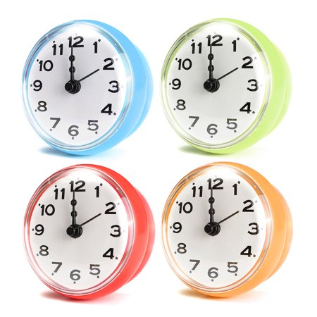 Waterproof Kitchen Bathroom Bath Shower Clock Suction Cup Sucker Wall Decoration Dia. 7cm / 2.76