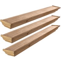 Set Of 3 Kieragrace Muskoka Fitz Wood Shelves Walnut 36-Inch