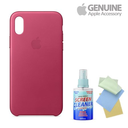 Fuchsia Pink Leather - Apple Leather Iphone X Pink Fuchsia With Free Cleaning Kit For Iphones/Ipads/Imacs
