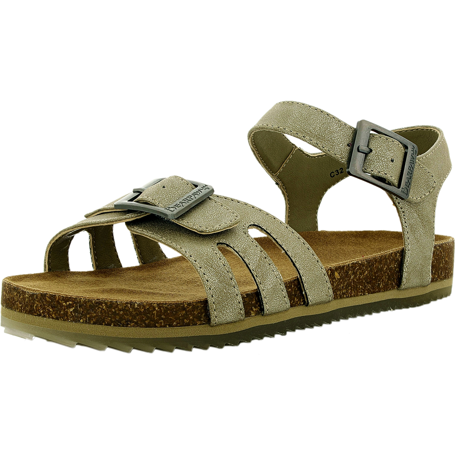 Bearpaw Girl's Delilah Leather Brown Ankle-High Suede Sandal 1M by Bearpaw