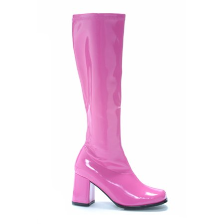 Fuchsia Go Go Womens Pink Knee High Boots](Go Go Boots For Girls)