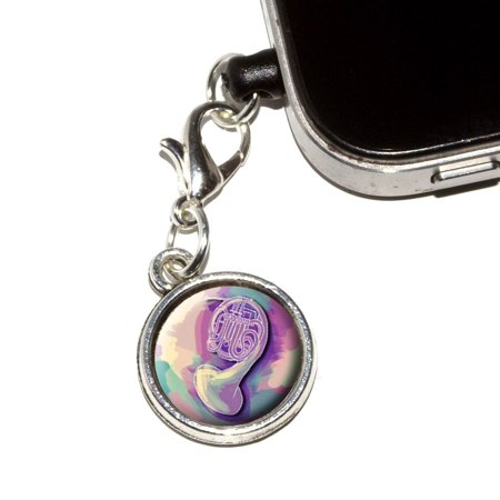 French Horn Player - Band Orchestra Instrument Music Mobile Phone Charm