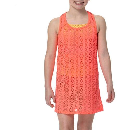 OP Girls' Swimsuit Crochet Cover Up