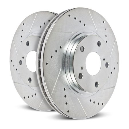 Power Stop Rear Pair of Drilled and Slotted Brake Rotors AR82197XPR 2017-2019 Buick Lacrosse Chevrolet Malibu 2018 Buick Regal Buick Envision Chevrolet Equinox 2018-2019 GMC Terrain Buick Lacrosse Rotor