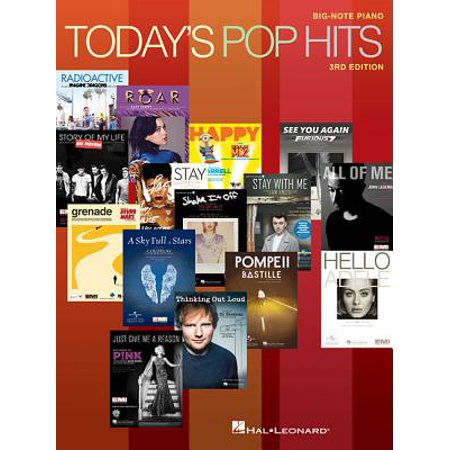 Today's Pop Hits : For Big-Note - Halloween Piano Notes