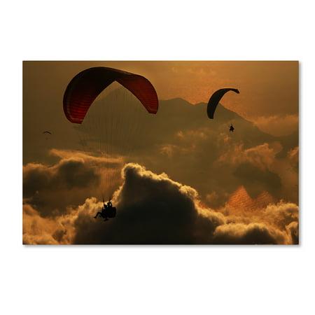 Trademark Fine Art 'Paragliding' Canvas Art by Yavuz Sariyildiz