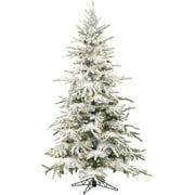 Fraser Hill Farm Unlit 7.5' Mountain Pine Flocked Artificial Christmas Tree