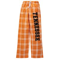 Tennessee Volunteers Youth Plaid Flannel Pants - Tennessee Orange