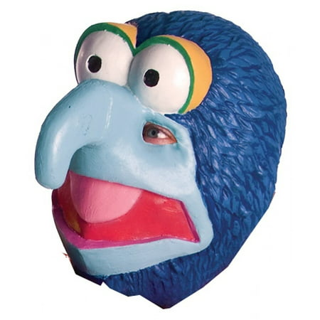 Gonzo Mask Big Nose & Eyes Muppet Blue Vinyl Puppet Cartoon Halloween Costume Accessory Unisex Adult Mens Teen Boys One Size Toy Collectible