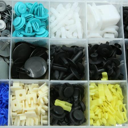 730pcs Plastic Clips Push Rivets Kit Car Retainer Bumper Trim Fasteners Set - image 3 de 8