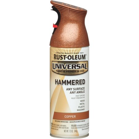 (3 Pack) Rust-Oleum Universal All Surface Hammered Copper Spray Paint and Primer in 1, 12 oz