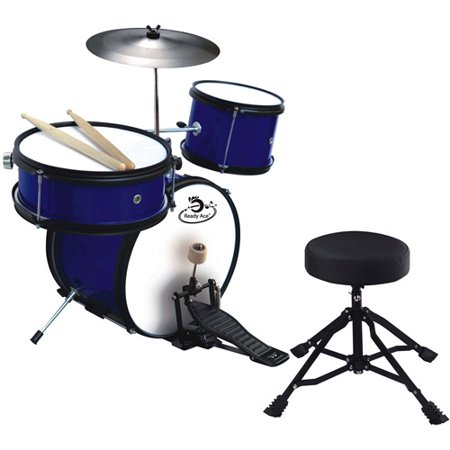 Ready Ace 5-Piece Junior Professional Drum Set Wooden Drum Set