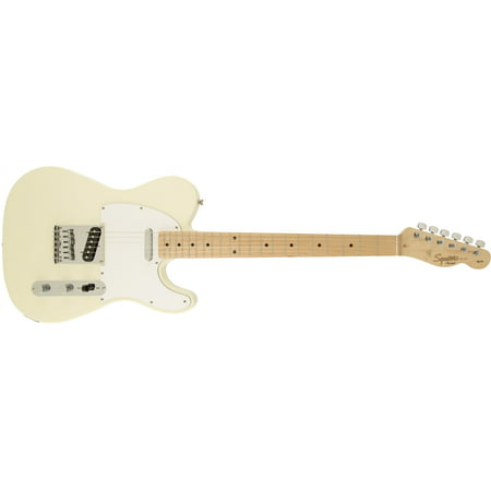 Fender Squier Affinity Telecaster Electric Guitar, Maple Fingerboard - Arctic White ()