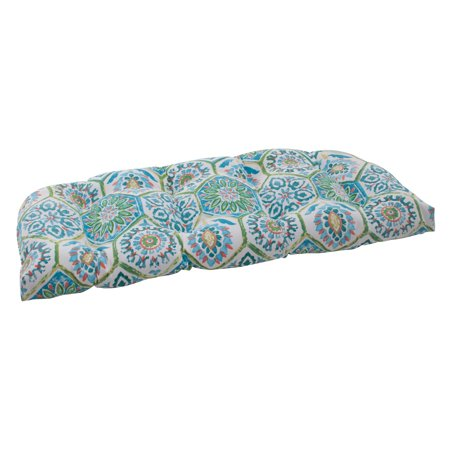 Summer Seat Cushion (Pillow Perfect Outdoor/ Indoor Summer Breeze Blue Wicker Loveseat)