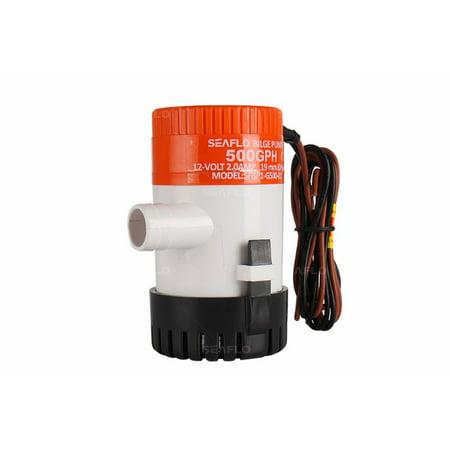 SEAFLO 01-Series Bilge Pump - 500 GPH, 12VDC 500 Gph Cartridge Bilge Pump