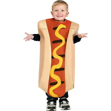 Hot Dog Toddler Toddler Child Costume](Kids Hotdog Costume)