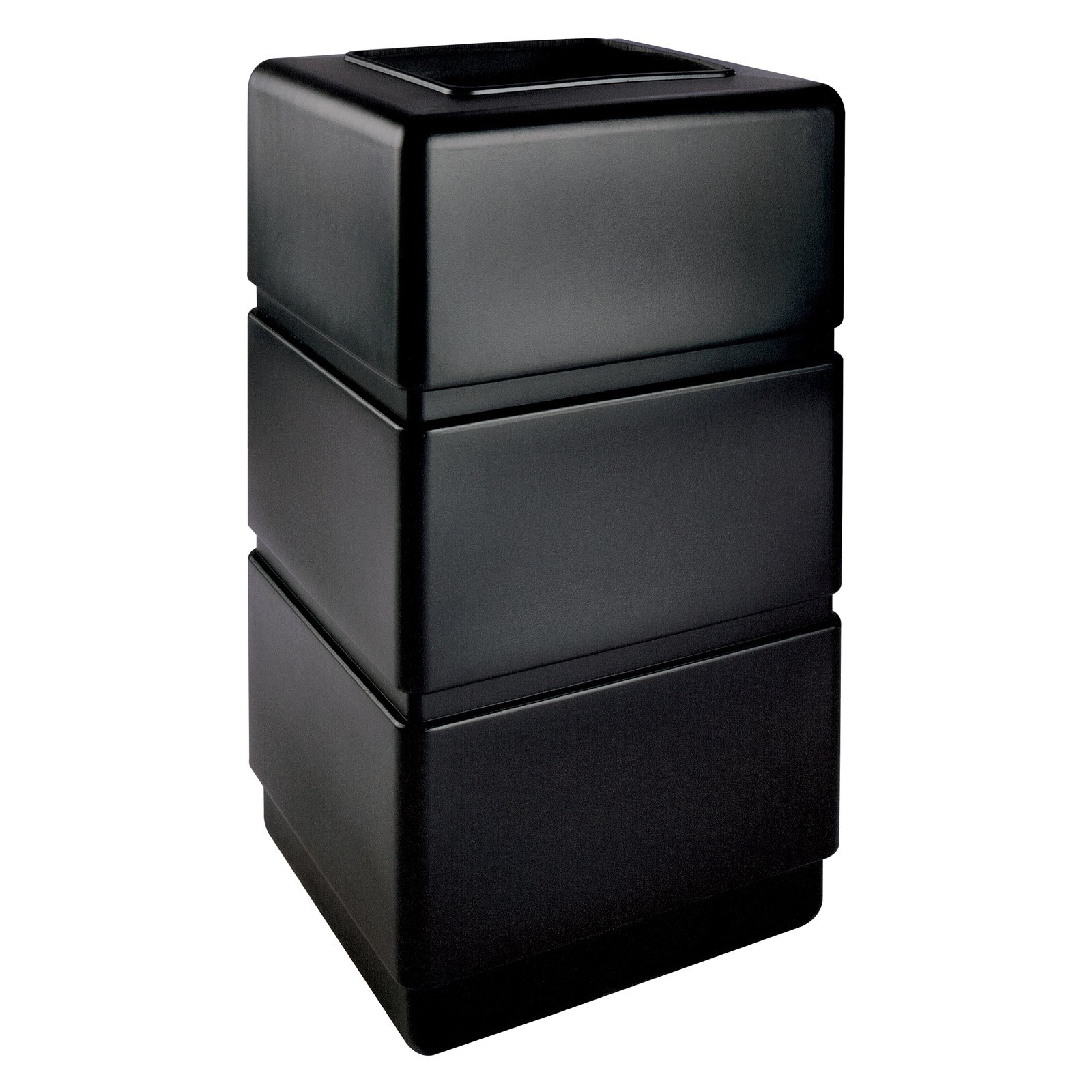 Commercial Zone 38 gal. Three Tier Black Commercial Trash Can