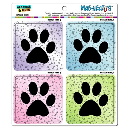 Fun Paw Prints - Dogs Pets MAG-NEATO'S(TM) Car/Refrigerator Magnet - Print Magnets