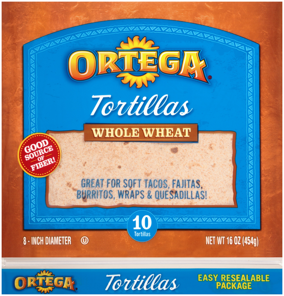 Ortega® Whole Wheat Tortillas 10 ct Bag
