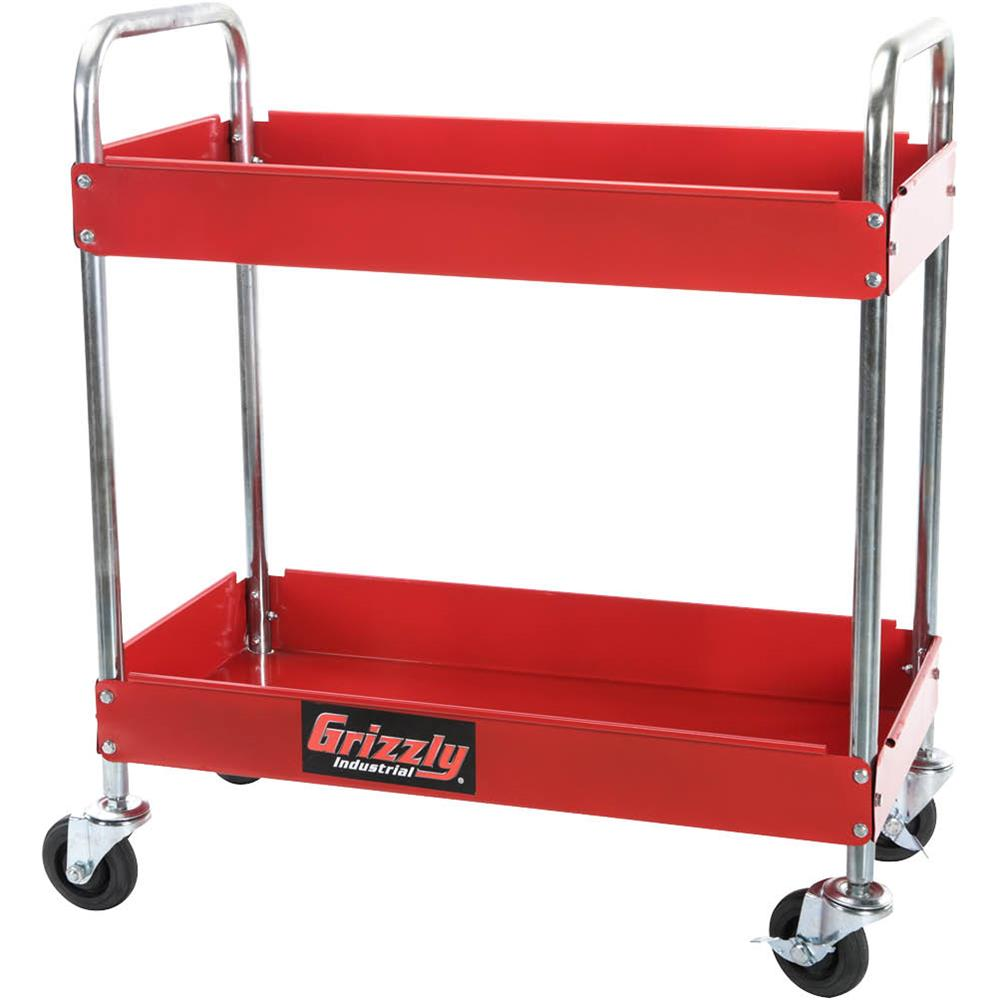 Panther H0759 2 Shelf Red Utility Cart