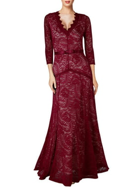 aaf8ce9614de Product Image MIUSOL Women's Vintage Lace Long Maxi Formal Evening  Bridesmaid Dresses Wedding Cocktail Party Dresses for Women