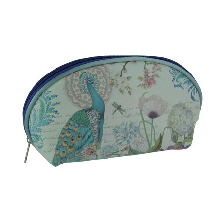 Peacock Makeup (Blue Peacock Print Portable Storage and Travel Makeup Clutch)