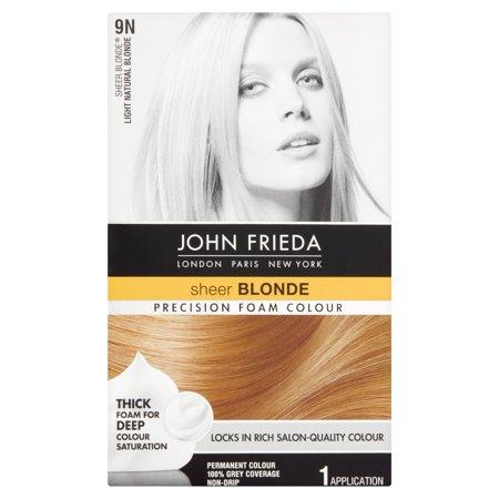 John Frieda Sheer Blonde 9N Light Natural Blonde Precision Foam Colour, 1 application