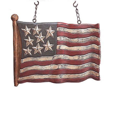 Hanging Americana Flag Decorative Replacement Plaque for Arrow Holder Red Seat Plaque