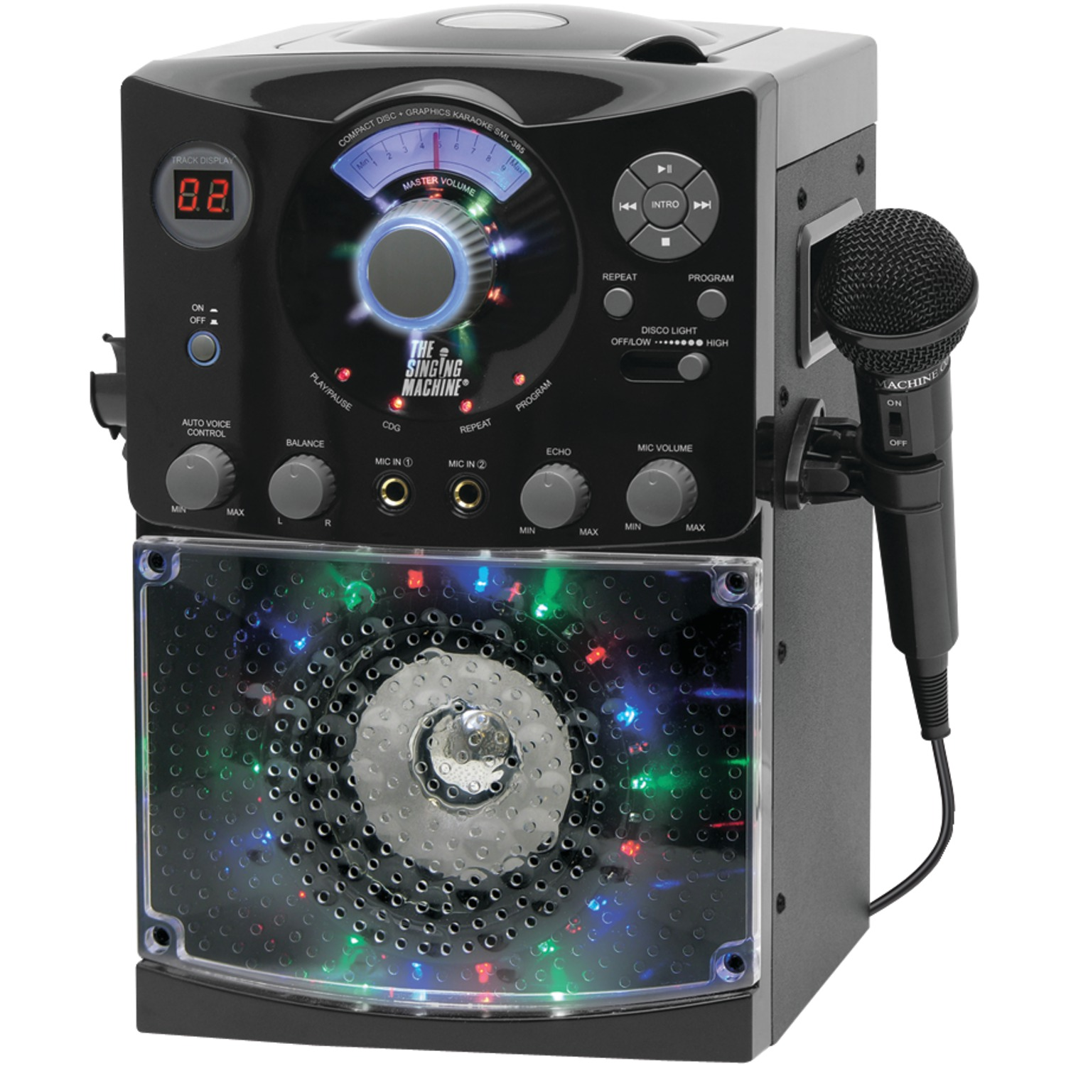 The Singing Machine SML385 Sound & Light Show Karaoke System (Black)