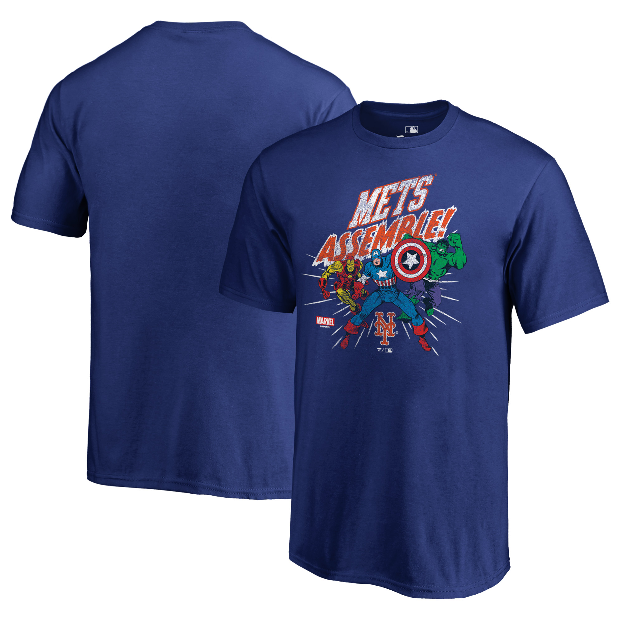 New York Mets Fanatics Branded Youth Marvel Avengers Assemble T-Shirt - Royal